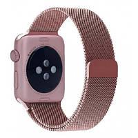 Ремешок Apple Watch 42mm Milanese Loop Band Rose Gold копия