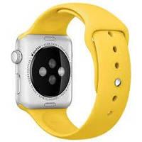 Ремешок Apple Watch 42mm Yellow Sport Band копия