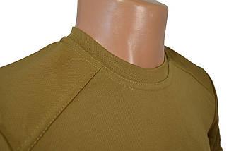Термофутболка мужская потоотводящая из ткани кулмакс в цвете койот, фото 2