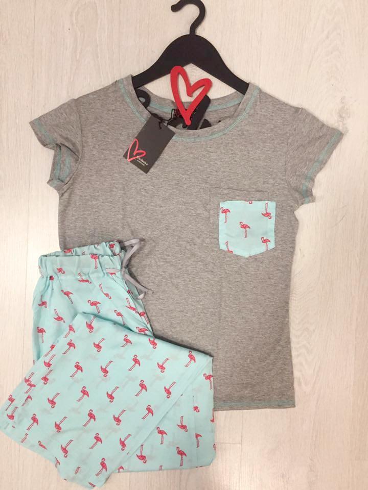 Женская пижама футболка и штаны