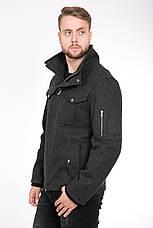 Стильная мужская куртка из пальтовой ткани T-GF демисезонная, фото 3