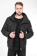 Стильная мужская куртка из пальтовой ткани T-GF демисезонная, 50 размер, фото 2