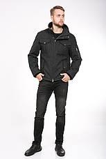 Стильная мужская куртка из пальтовой ткани T-GF демисезонная, 50 размер, фото 3