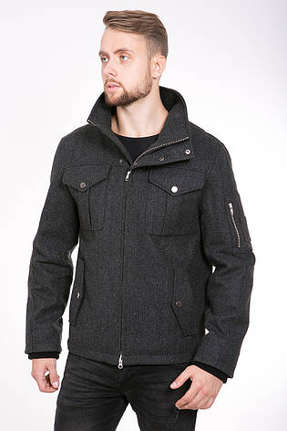 Стильная мужская куртка из пальтовой ткани T-GF демисезонная, фото 2