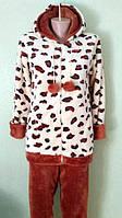 Женская теплая пижама в бежевом цвете, фото 1