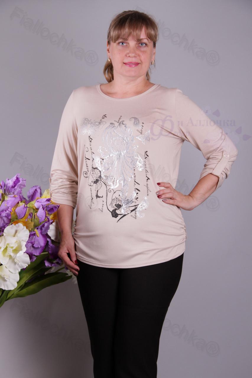 Блуза-туника трикотажная 401-осн622/2-63 батал от производителя Украина