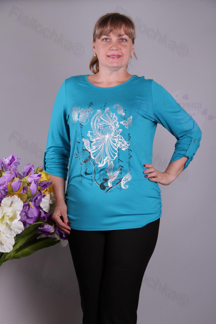 Блуза-туника трикотажная 418-осн622/2-63 батал от производителя Украина