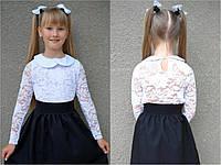 Детская блузка с воротничком для школы