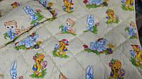 Одеяло с подушкой детское холлофайбер 140х110 ОДА