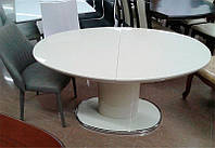 Обеденный раскладной стол Orion 2 (Орион 2), цвет белый МДФ 1400(+400)х850х750