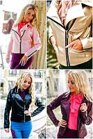Женская куртка-косуха из эко-кожи №5027(р.42-46)
