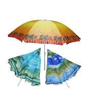 Пляжный зонт с наклоном (диаметр 2м). Цвета разные
