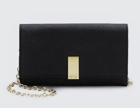 Чёрный кошелёк на цепочке Zac Pozen
