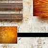 """Модульна картина """"Абстракція коричнева. Триптих"""", фото 3"""