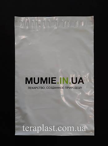 Курьерский полиэтиленовый пакет 240х320+40 в 2 цвета, фото 2