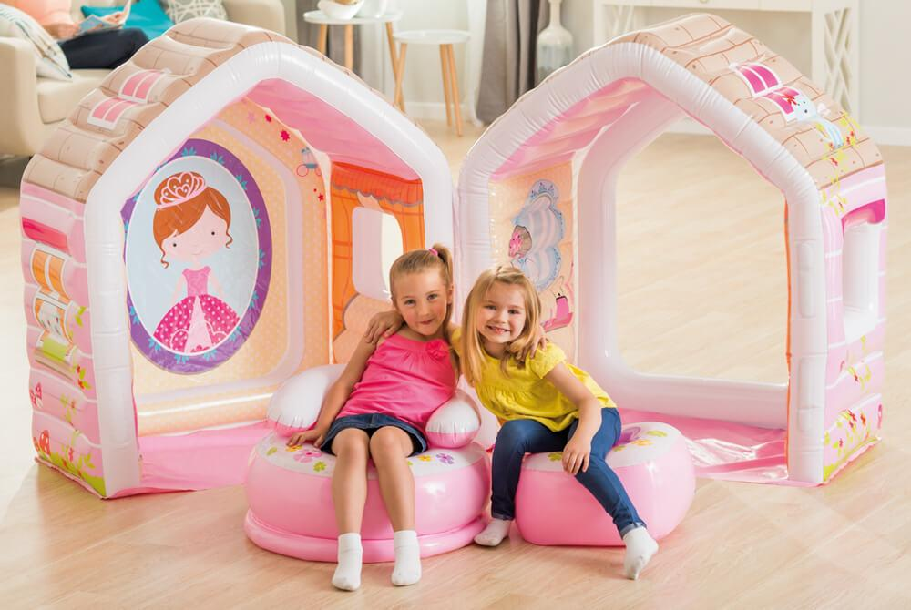 Надувной игровой центр-домик Intex Домик принцессы 124х109х122 см (48635)