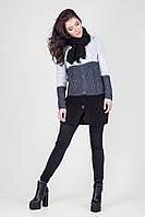 Удлиненный жакет-пальто и шарф