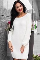 Вязаное женское платье до колен в расцветках k-t140378