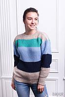 Стильный вязаный женский свитер