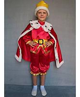 """Костюм """"Король"""" на возраст от 3 до 6 лет (95-120 см) красный"""