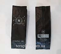 Пакет Центральный шов 250г  с печатью и клапаном