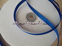 Репсовая лента шириной 1 см №40 синий электрик