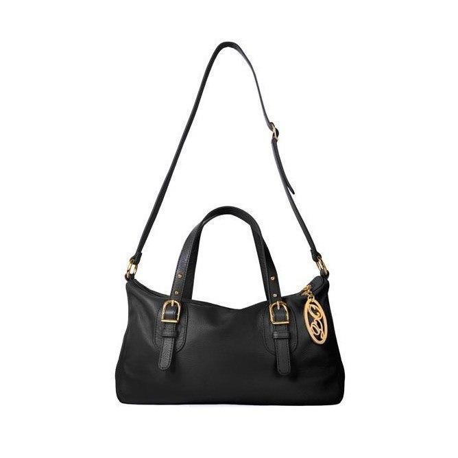 Чёрная кожаная сумка Onna Ehrlich