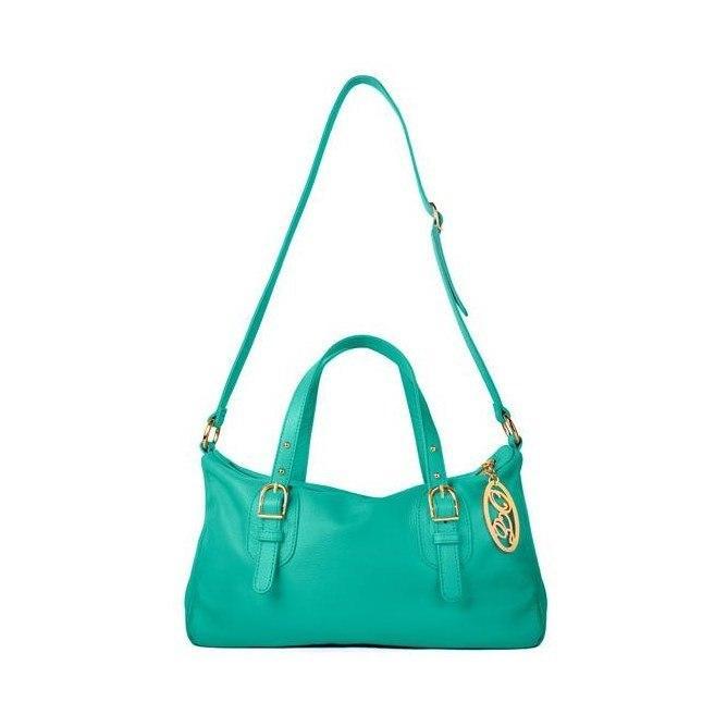 Бирюзовая кожаная сумка Onna Ehrlich