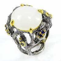 Кольцо серебро 925 пробы аквамарин, фото 1