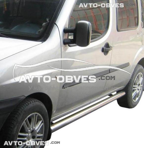 Трубы боковые для Fiat Doblo 2001-2012, кор (L1) / длин (L2) базы, Ø 42 | 51 | 60 | 70 мм