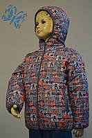 Курточка зимняя для мальчиков Скейт на сером 98, 104, 110.
