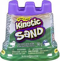 Песок для детского творчества - Kinetic Sand Мини-крепость, зеленый, 141 г