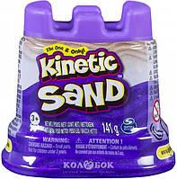 Песок для детского творчества - Kinetic Sand Мини-крепость, фиолетовый, 141 г