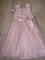 Нарядное платье для девочки 128 размер