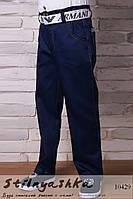 Трендовые брюки на мальчика темно-синие