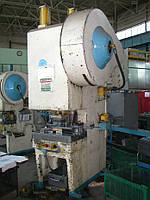 Пресс однокривошипный простого действия открытый КД2128 (усилие 63 тонны)
