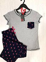 Женская пижама штаны с футболкой