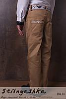 Трендовые брюки на мальчика кофе