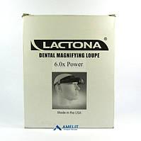 Линза Лактона 6x (Lactona), увеличивающая лупа для стоматолога (6x-увеличение), 1 шт.