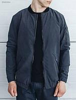Осенняя куртка мужская бомбер Staff Bomb Gray (стаф, серая)