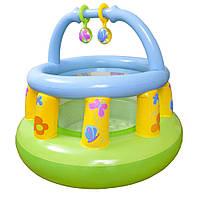 Детский надувной гимнастический центр-манеж Intex 130х104 см (48474)