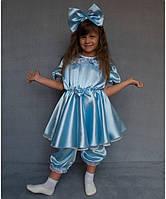 """Карнавальный костюм """"Мальвина"""" на возраст от 3 до 6 лет (95-120 см) голубой"""