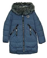 Пальто зимнее для девочки ,р.128-152