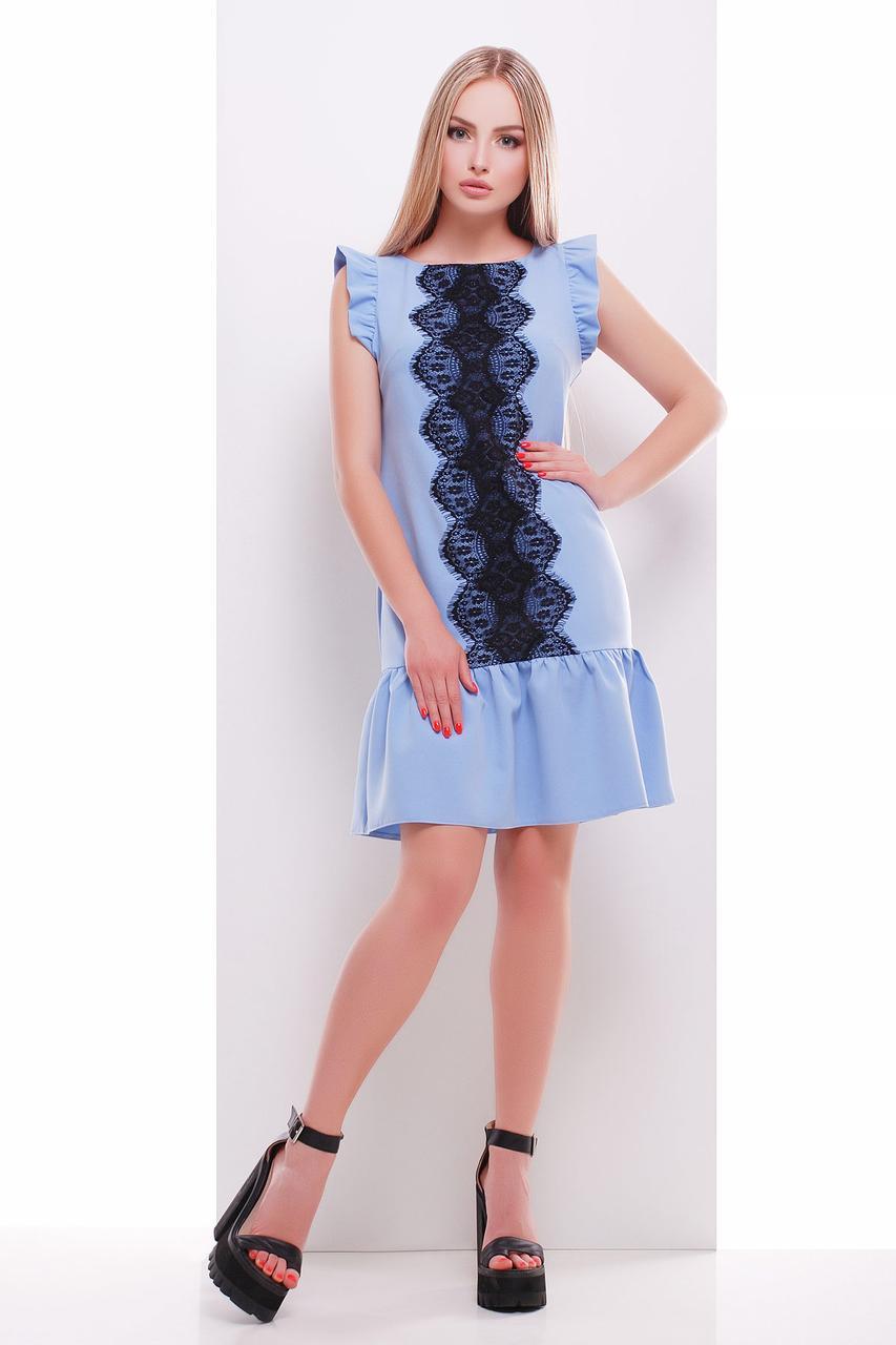 Женское платье с оборкой внизу