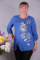 Блуза-туника трикотажная 437-осн625-155 батал от производителя Украина