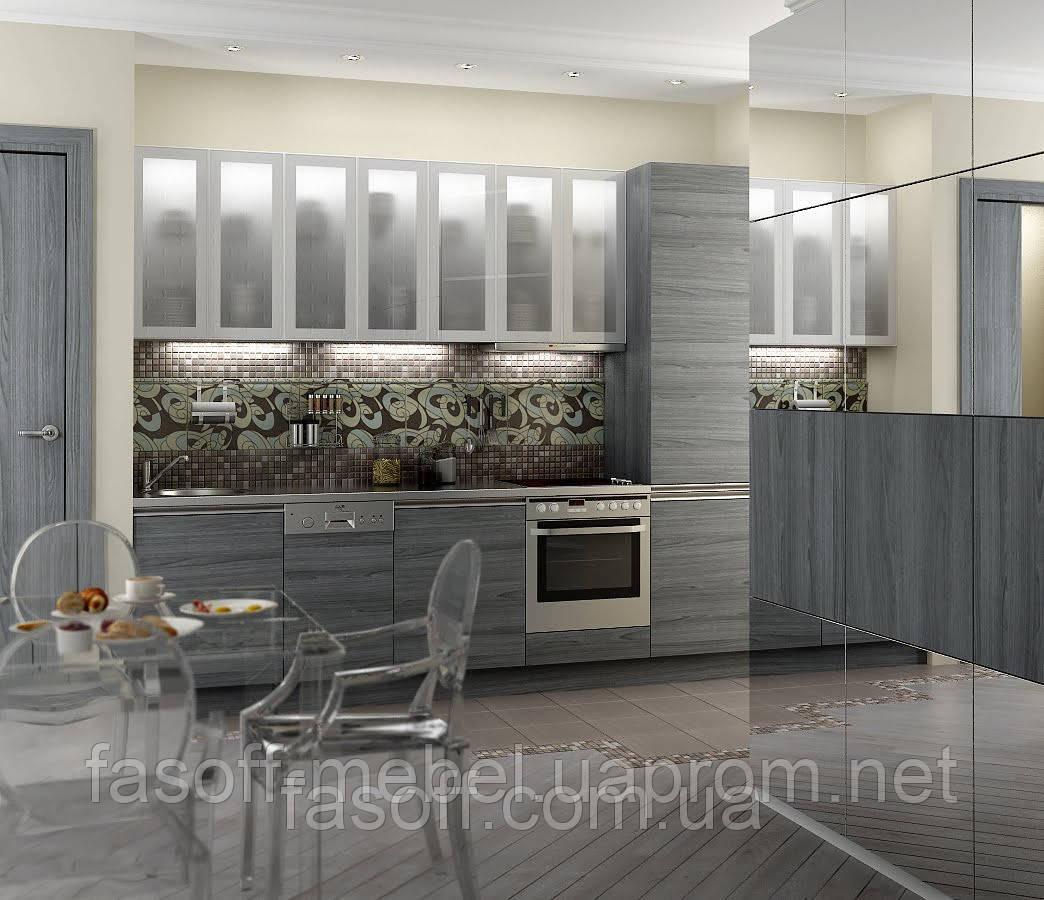 Кухня металлик-модерн МДФ пленочный 023