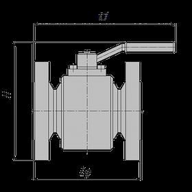 Кран шаровый наземный фланцевый PN63 с ручным управлением