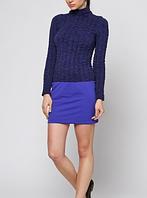 Распродажа! Женское фактурное платье Philippe Matignon, цвет фиолетово-синий р. S-L