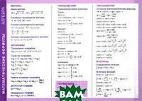 Алгебра. Математические формулы. Справочные материалы