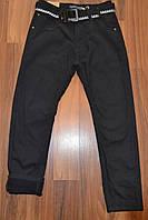 УТЕПЛЁННЫЕ,Черные, Котоновые  брюки на флисе для мальчиков подростков.ШКОЛА!Размеры 134-164 см.Фирма TAURUS. , фото 1